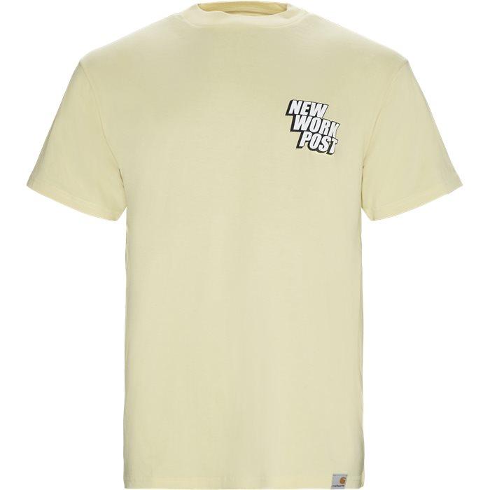 S/S Post Tee - T-shirts - Regular - Gul